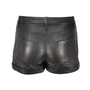 Theory Rizda Washed Leather Shorts - Thumbnail 1