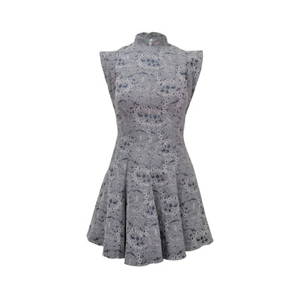 Authentic Second Hand Ong Shunmugam Jacquard Flared Dress (PSS-110-00010)