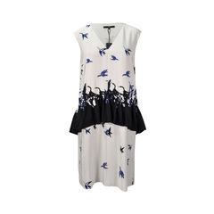 Geese Print Shift Dress