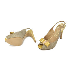 Salvatore ferragamo stingray patent ribbon peep toe 8