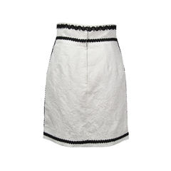 Dolce and gabbana contrast trim embroidered skirt 2