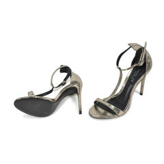 Rachel zoe t strap snakeskin embossed sandals 2