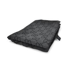Gucci monogram wool blend scarf black 2