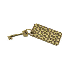 Christian dior gold metal plate with key 2