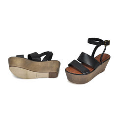 Elizabeth and james leather and wood platforms 2
