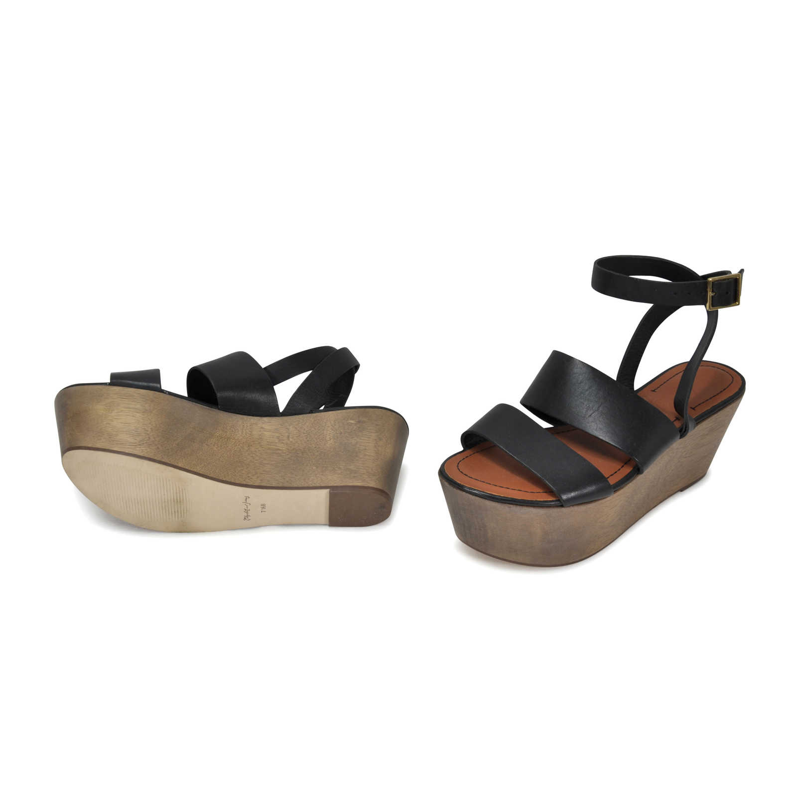 7e2a02939 ... Authentic Second Hand Elizabeth and James Bax Flatform Sandals  (PSS-284-00008) ...