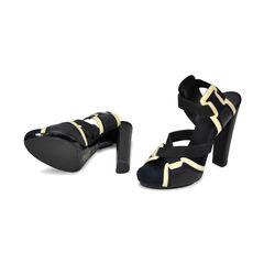 Balenciaga patent suede elastic detail sandal 2