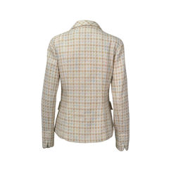 Alain figaret wool tweed long blazer 2