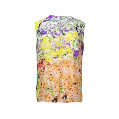 Mary katrantzou silk flower sleeveless top 2