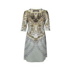 Gaowei xinzhan jewel print dress 2