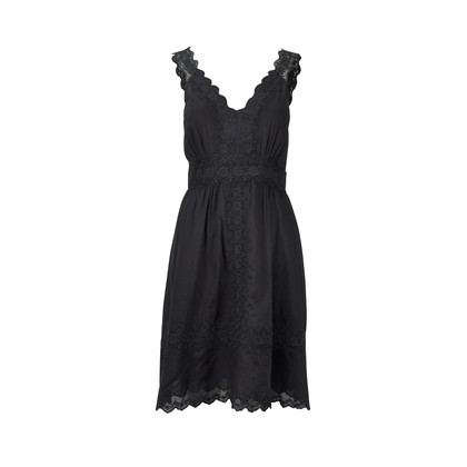 Authentic Second Hand Fleur Wood Dress With Crochet Detail (PSS-275-00008)