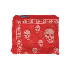 Alexander mcqueen skull scarf red 1