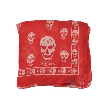 Alexander Mcqueen Skull Scarf Red
