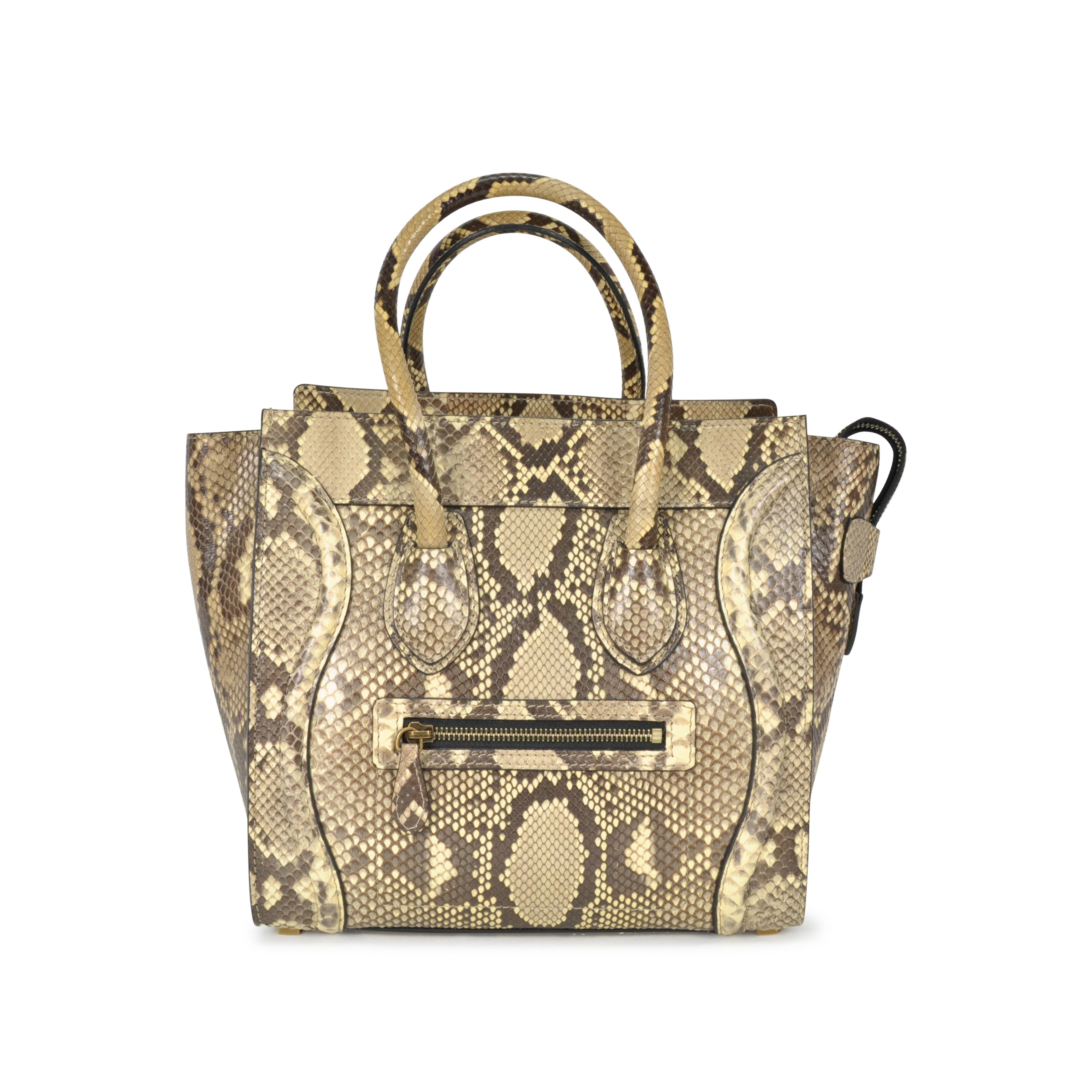 e36925eec2 Authentic Second Hand Céline Python Micro Luggage Bag (PSS-051-00047 ...