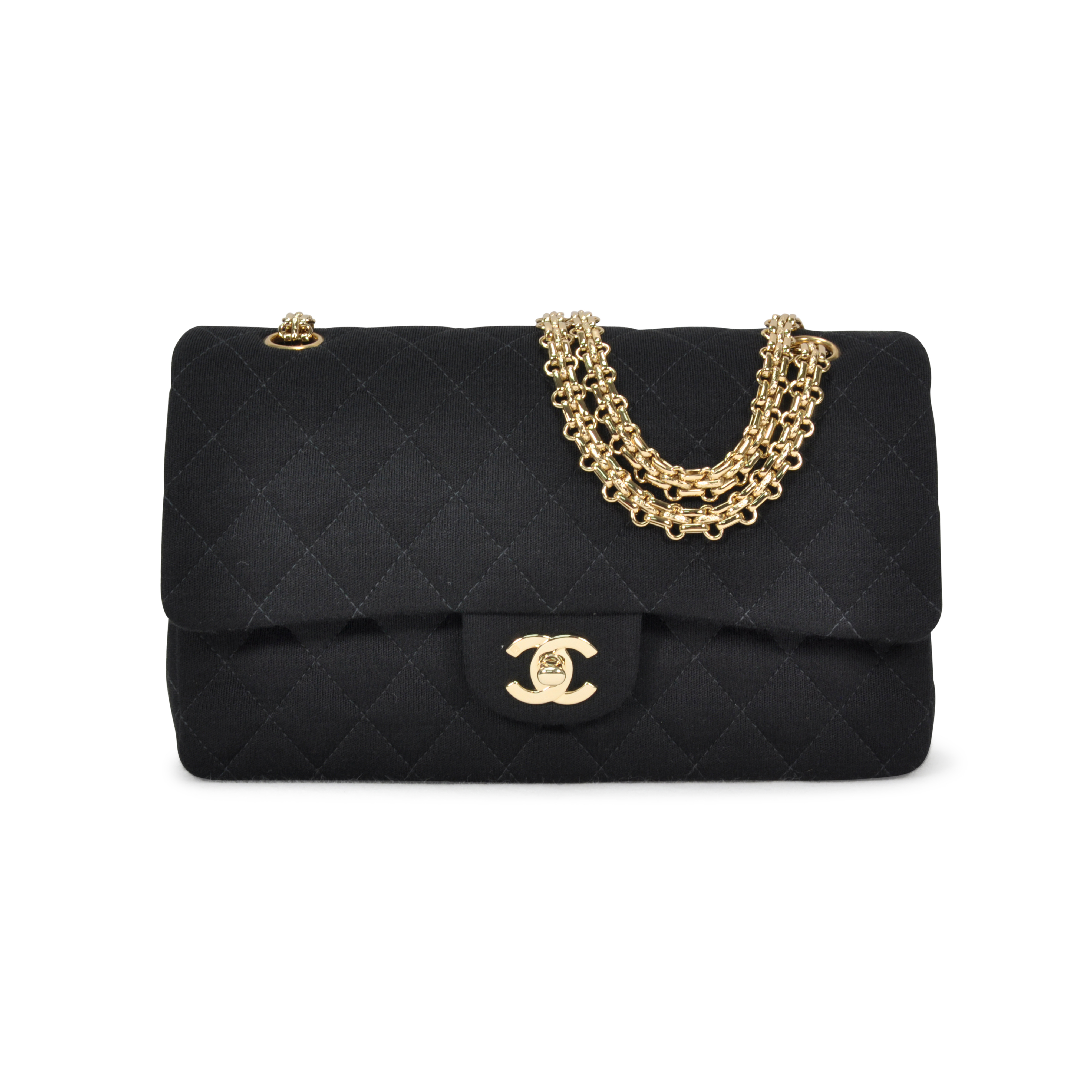 bc9f1bf3411 Authentic Second Hand Chanel Jersey Classic Flap Bag (PSS-051-00048 ...