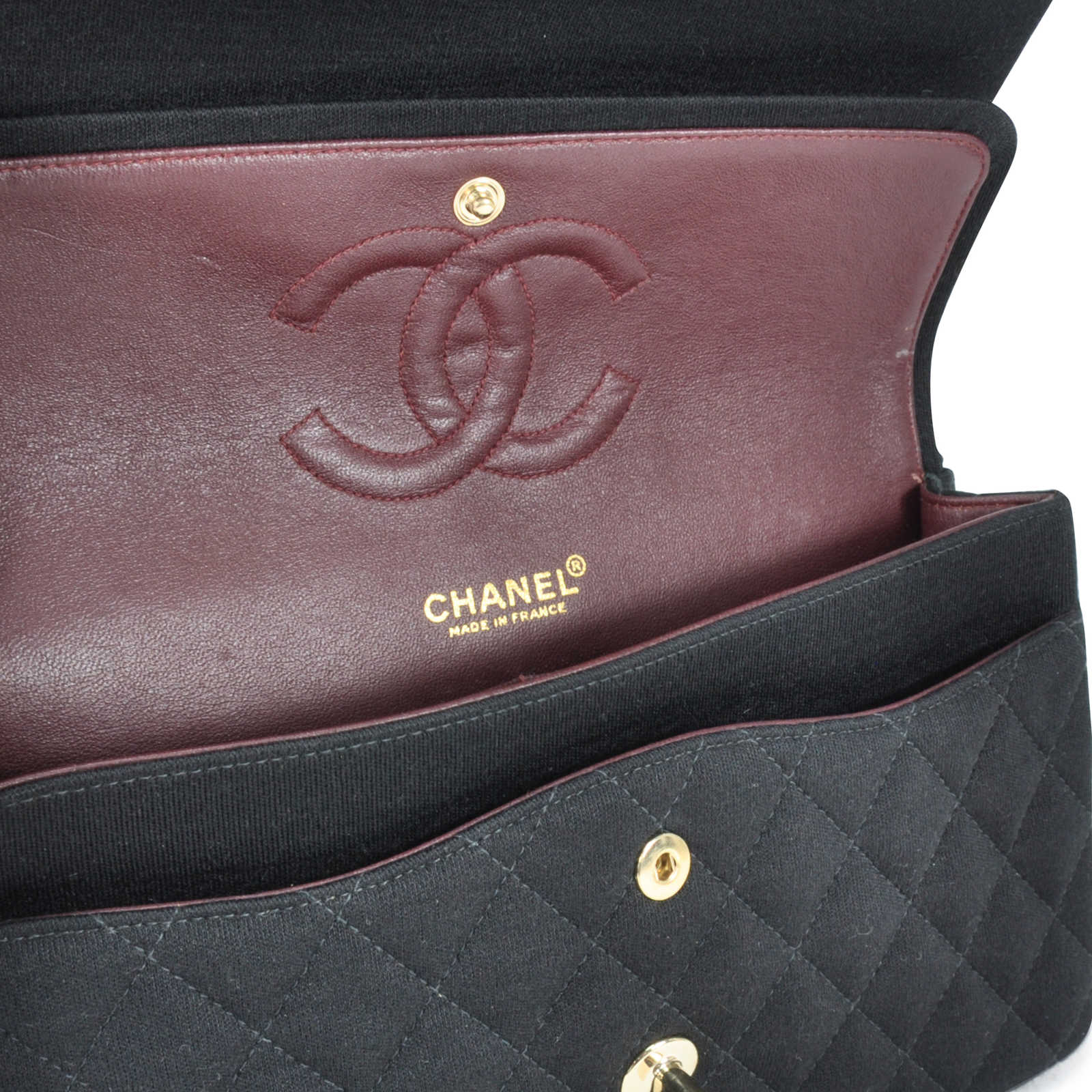 b8b16fe7786e Authentic pre owned chanel jersey classic flap bag pss jpg 1600x1600 Chanel  jersey