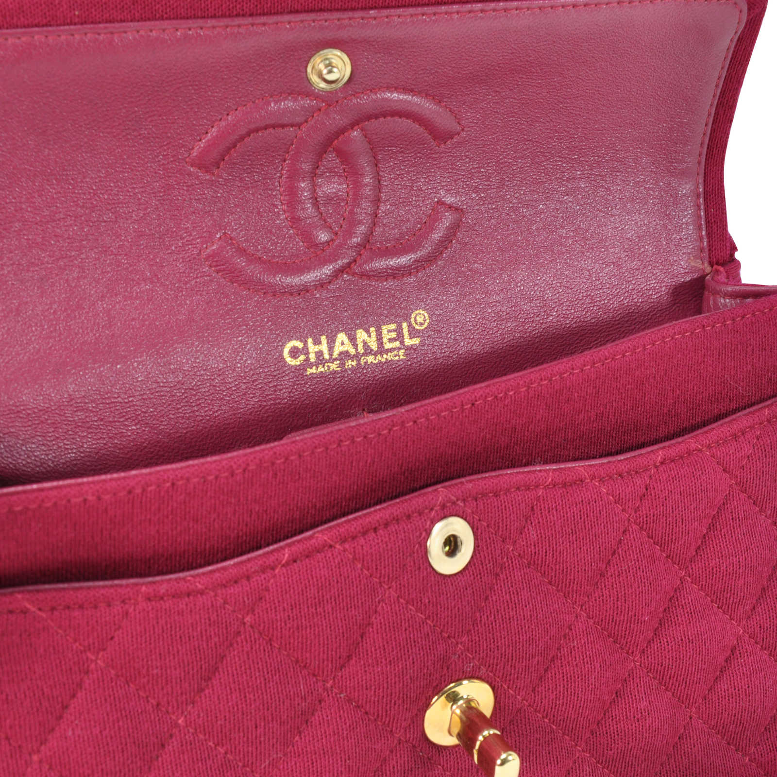 7c347a6bee4d ... Authentic Second Hand Chanel Jersey Small Classic Flap Bag  (PSS-051-00049) ...