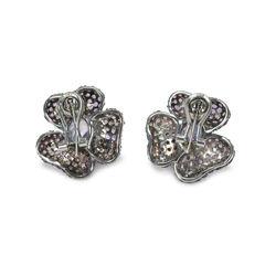 Tippy matthew purple embellished flower earrings 2
