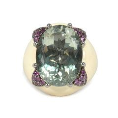 Clawed Crystal Enamel Ring