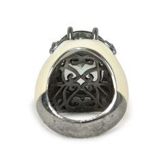 Tippy matthew clawed crystal enamel ring 2