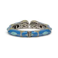 Tippy matthew blue enamel with yellow crystal embellishments bracelet 2