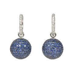 Blue Sphere Crystal Earrings