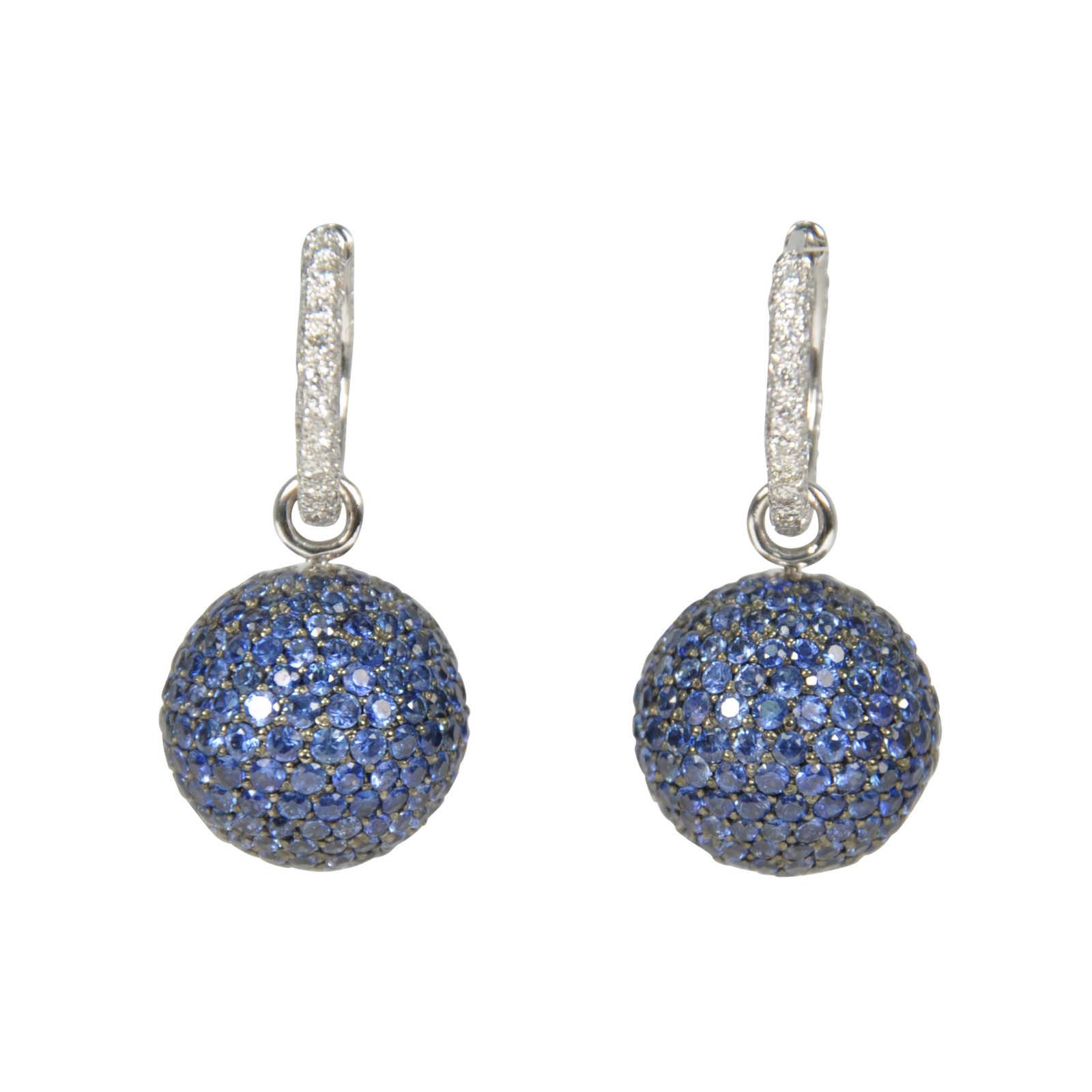 Second Hand Tippy Matthew Blue Sphere Crystal Earrings ...