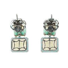 Tippy matthew yellow rectangular crystal earrings 2