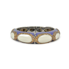 Embellished Purple Enamel Bangle