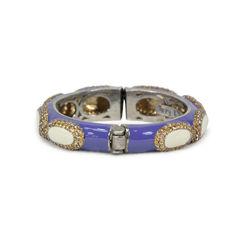 Tippy matthew purple enamel with gold crystal embellishment bracelet 2
