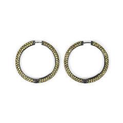 Yellow Crystal Loop Earrings