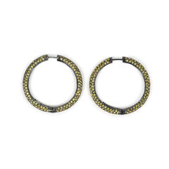 Tippy matthew yellow crystal loop earrings 2