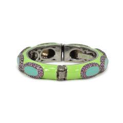 Tippy matthew green enamel with purple crystal embellishment bracelet 2