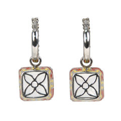 Tippy matthew clear crystal square earrings 2