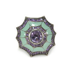 Web Purple Embellished Ring