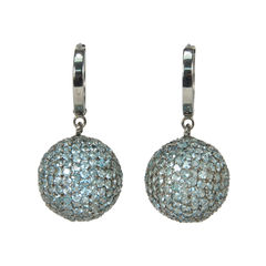 Tippy matthew light blue sphere crystal earrings 2
