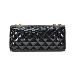 Chanel glitter patent flap bag 2