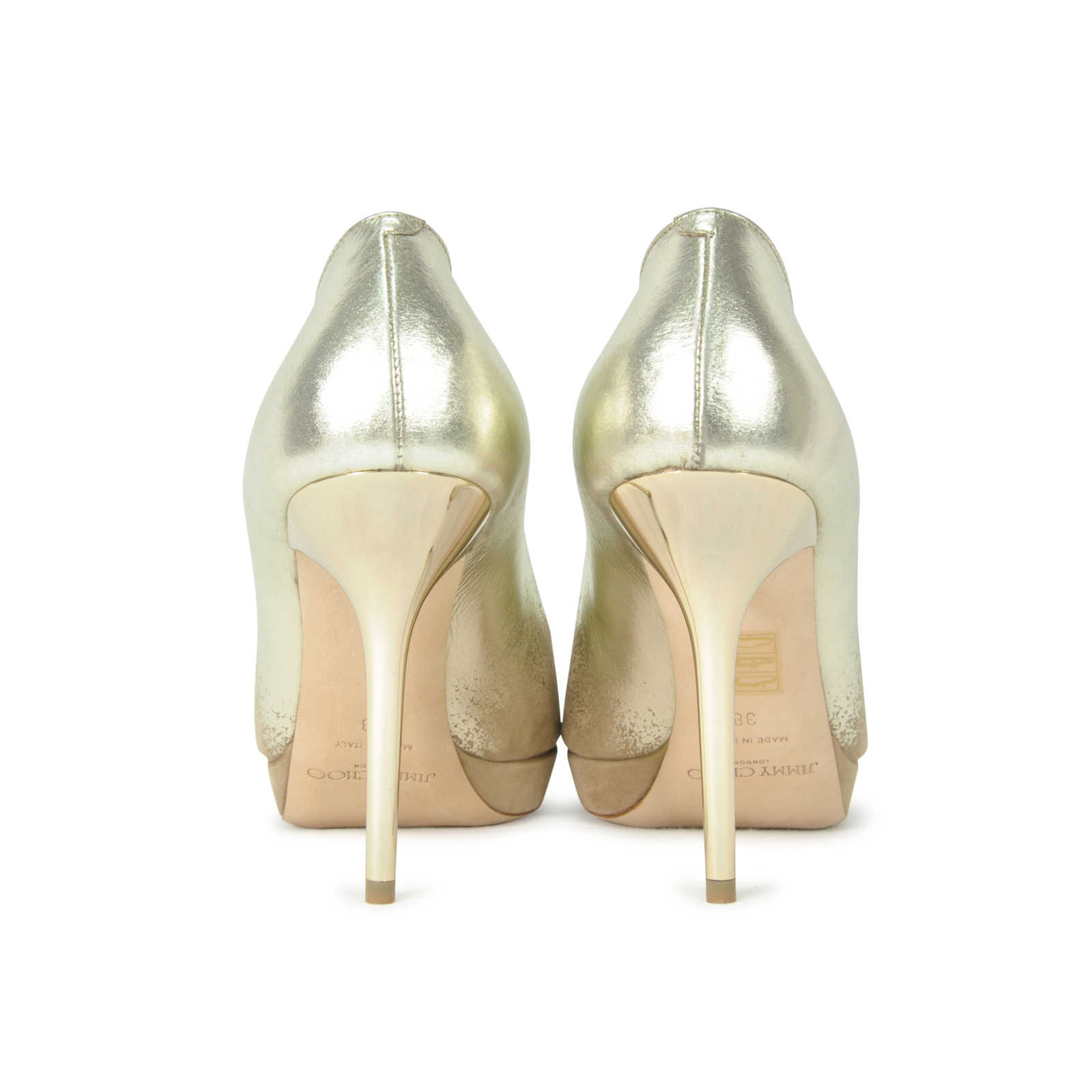 65c45a2c14b0 ... Authentic Second Hand Jimmy Choo Suede Mirror Luna Pumps (PSS-287-00003)  ...