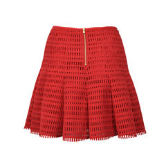 Sandro red ruffle skirt 2
