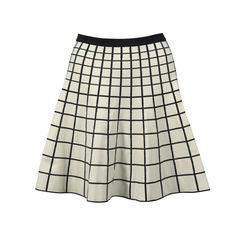 Grid Knit Stretch Skirt