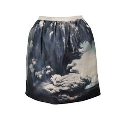 Cloud Print Skirt