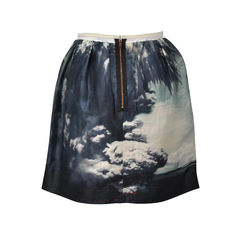 Carven cloud print skirt 2