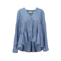 The Triple Turn Denim Blouse