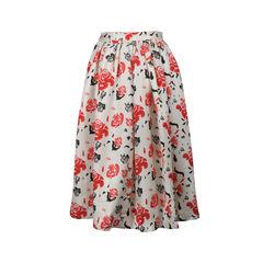 Msgm printed silk wool princess skirt 2