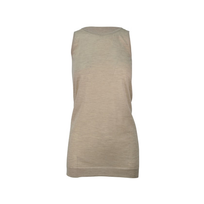Authentic Second Hand Jil Sander Oatmeal Tunic Top (PSS-246-00165)
