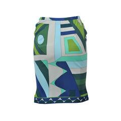 Emilio pucci swirl straight cut skirt 2