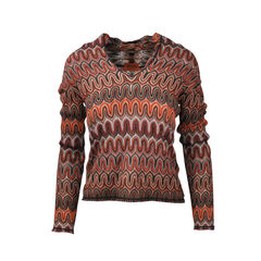 Earth Toned Knit Collared Sweater