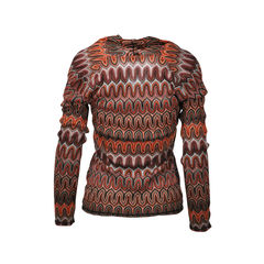 Missoni earth toned knit collared top 2