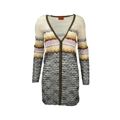 Authentic Second Hand Missoni Crochet-knit Long Cardigan (PSS-246-00232)