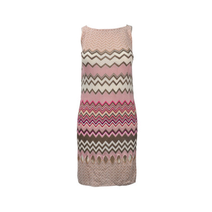 Authentic Second Hand Missoni Pink Crochet Knit Dress with Cut-out detail (PSS-246-00238)